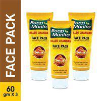 Roop Mantra Haldi Chandan Face Pack 60g, Pack of 3