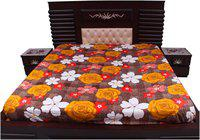 Dream Care Cotton Printed Queen Size Bedsheet ( 1 Bedsheet Without Pillow Covers , Multi )