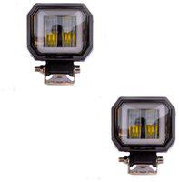 Spidy Moto Square Fog CREE 20W LED Spot Driving Fog Lamp Auxiliary Light DRL