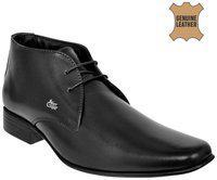 Allen Cooper Men Black Solid Leather Formal Debys