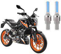 Riderscart Blue Bike Tyre LED Light Wth Motion Sensor Tyre Light Blue Fancy Light Tail Light Plastic for KTM Duke 200 Bike