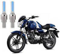Riderscart Blue Bike Tyre LED Light Wth Motion Sensor Tyre Light Blue Fancy Light Tail Light Plastic for Bajaj Vikrant Bike