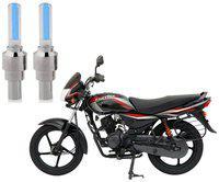 Riderscart Blue Bike Tyre LED Light Wth Motion Sensor Tyre Light Blue Fancy Light Tail Light Plastic for Bajaj Platina 100 Bike