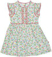 Budding Bees Girls Midi/Knee Length Casual Dress(Multicolor, Cap Sleeve)