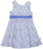 Budding Bees Girls Midi/Knee Length Casual Dress(Blue, Sleeveless)
