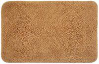 Bianca Benz 100% Cotton Bath Mat With Anti Skid & Rubber Backing Solid Beige Small 1 Pc