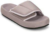 TRUFFLE COLLECTION Women's YARY4 Grey Textile Fabric Fashion Slippers - 3