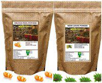 WILD FOREST ORANGE PEEL AND NEEM LEAVES POWDER 100 GM (Pack of 2)