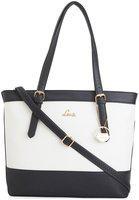 Lavie Women White & Black Colourblocked Shoulder Bag