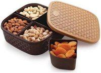 4 Section Multipurpose Dry Fruit Chocolates mouth freshner sweet Box set ( assorted colour)
