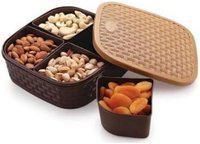 JAGGIS 4 Section multipurpose dry fruit chocolates mouth freshner sweet box set_single (assorted colour)