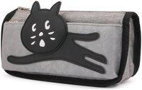 INSTABUYZ double zipper cat design Pencil pouch Organizer for School Kids pencil case for girls & boys