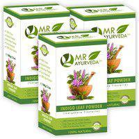 MR Ayurveda 100% Organic Indigo Powder,Hair Color 100 g (Pack of 3)