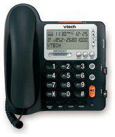 Vtech Corded Big Button Telephone Volume Boost And Caller ID - Black (CD1281) N