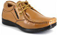 Shoebook Genuine Leather Formal Shoes For Men Tan