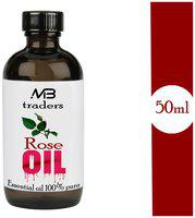 MB TRADERS Rose Oil - 100% Pure, Natural & Undiluted - 50 ML