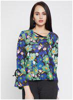 Madame Blue Casual Full Sleeve Top for Women ()