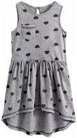 KiddoPanti Girls Short/Mid Thigh Casual Dress(Grey, Sleeveless)