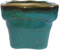 Tashveen Articles Ceramic Planter (Brownish Blue Square Planter) Indoor Planter, Outdoor Planter, Ceramic pots, Ceramic planters, Ceramic Flower Pot, Pot