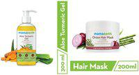 Mamaearth Aloe Vera Gel 300 ml and's Onion Hair Mask 200ml (Pack of 2)