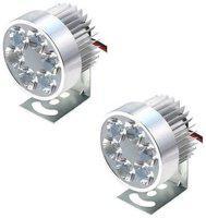 SHOP4U Imported 6 LED Fog Light For Royal Enfield Bullet 350