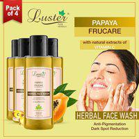 Luster Papaya Frucare (Vitamin C) Herbal Face Wash 110ml (Pack of 4)
