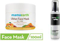Mamaearth Ubtan Face Mask 100Ml, After Saving Men 100Ml (Pack of 2)