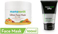 Mamaearth Ubtan Face Mask 100Ml, Charcoal Facewash Men 100Ml (Pack of 2)