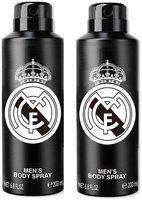 Real Madrid Black Deodorant Body Spray For Men- Pack Of 2 (200ml Each)