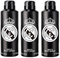 Real Madrid Black Deodorant Body Spray For Men- Pack Of 3 (200ml Each)