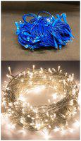 GLOWTRONIX Combo of Blue & Warm WhiteColor Festival Decorative 8 M 26 Bulbs High Quality Indoor LED String Fairy Lights