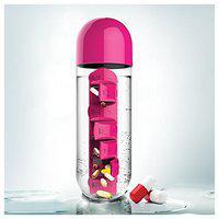 TENEZA 600 ml Plastic Assorted Water Bottles - Set of 1