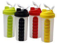 TENEZA 600 ml Plastic Assorted Water Bottles - Set of 2