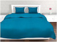 Cannon 300Tc Blue Striped King Size Double Bedsheet With 2 Pillow Cover Set (6001)