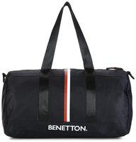 United Colors of Benetton Unisex Black Solid Small Duffel Bag