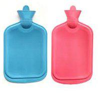 Special winter offer Rubber water bottle pack of 2 (Assorted color)