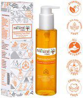 Natural Vibes Ayurvedic Vitamin C Brightening Face Wash 120 ml Deep cleanses your pores, fights sun damage, lightens pigmented areas and brightens your complexion
