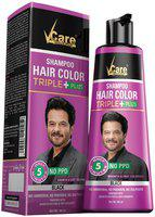 VCare Shampoo Hair Color Black 380 ml