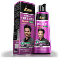 Vcare Hair color shampoo argan 10 in 1 Benefits (Grow & Fast Coloring) Black 380 ml