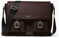 Michael Kors Men's Collection Kennedy Brown leather Messenger briefcase bag