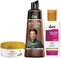 VCare Shampoo Hair Color Combo, Brown