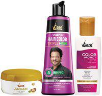 VCare Shampoo Hair Color Combo, Black