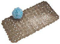 InterDesign Pebblz Suction Non-Slip Bath Mat (Brown) 80013