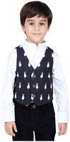 One Friday Boy Cotton Printed Ethnic jacket - Blue