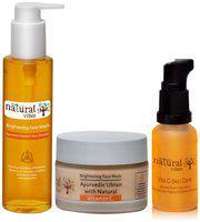 Natural Vibes Vitamin C Face Wash 120 Ml,Vitamin C Face Mask 50Gm & Vitamin C Face Serum 30 Ml (Pack Of 3)