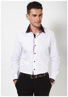 Dazzio Men's Slim Fit Cotton Casual Shirt (DZSH0060_White_40)