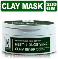 Nutriglow Advanced Organics Neem & Aloe Vera Clay Mask200 Gm