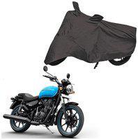 Bigwheels Premium Quality Grey Matty Two Wheeler Bike Body Cover For Royal Enfield Bullet Thunderbird 500X With Mirror Pockets