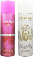 Police Passion 200 ml & Queen Deodorant Spray For Women 200 ml Pack Of 2