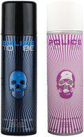 Police To Be Men 20 ml & To Be Women Deodorant Spray 200 ml Pack Of 2